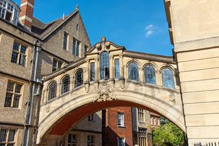 Die berühmte Bridge of Sighs in Oxford