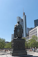 Bronze statue of Johann Wolfgang von Goethe in Frankfurt, Germany
