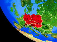 Central Europe on Earth from space
