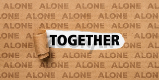 Torn Paper - Together or Alone