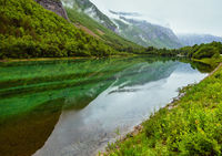 Mountain lake with clean water, Norway