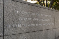 Memorial at the Garden of Remembrance in Seattle, Washington, USA.