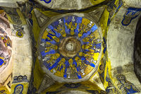 Frescos of the Centre Dome, rock-hewn church Abuna Gebre Mikael, Gheralta, Tigray, Ethiopia