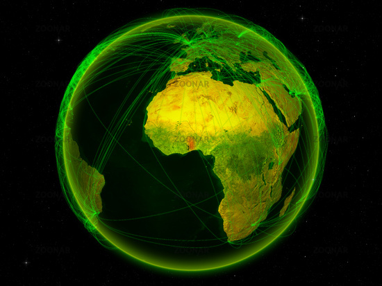 Togo on Earth with network