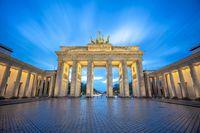 The Brandenburg Gate monument in Berlin city, Germany