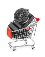 Photo camera in shopping cart