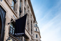 Burberry luxury fashion retail store in London