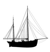 Sailing yacht silhouette 3