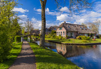 Typical dutch village Giethoorn in Netherlands
