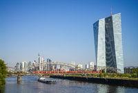 Frankfurt with ECB and skyline