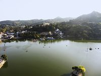 Aerial View, Nakki Lake, Mount Abu, Rajasthan.
