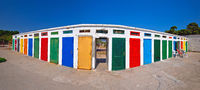 Jadrija beach colorful cabins panoramic view