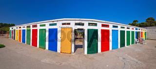 Jadrija beach colorful cabins panoramic view