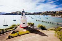 Akaroa Lighthouse in New Zealand in Spring