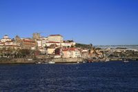 Panoramic view of old town of Porto, Portugal