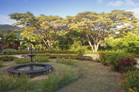 park with fountains in Mauritius