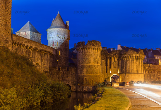Castle of Fougeres in Brittany - France