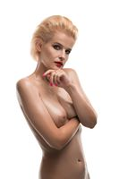 Nude girl cropped isolated shot