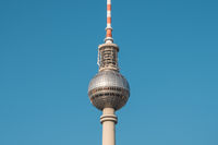 The Television tower / Tv Tower (Fernsehturm) in  Berlin