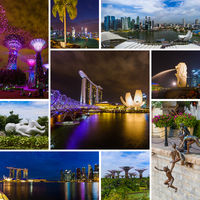 Collage of Singapore travel images (my photos)