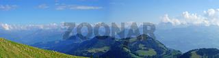 Panorama der Schweizer Alpen