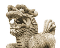 Chinese Lion Sculpture Isolated Photo