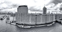 Port City Hamburg, Panorama, B+W