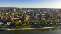 Harrisburg state capital of Pennsylvania along on the Susquehanna River