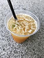 iced sugarcane or sugar cane juice