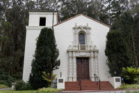 The Façade of the Presidio Chapel in San Francisco California.