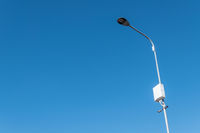 Street lamp with CCTV camera