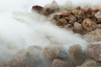 Steam and rocks, Futuroscope them park, Poitiers, Poitou-Charentes, Nouvelle-Aquitaine, France