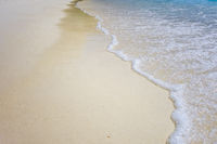 white sand beach detail