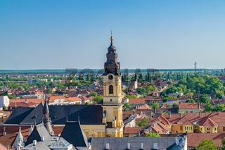Oradea - St. Nicholas Cathedral viewed from above, Romania