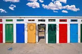 Jadrija beach colorful cabins view