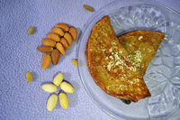 Malpua is a pancake served as a dessert or a snack usuallly made at Holi festival