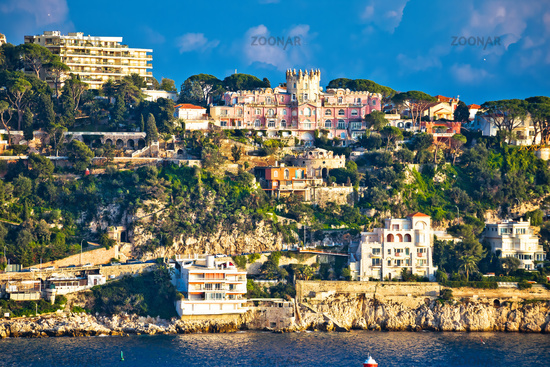 Cap du Nice historic architecture view from sea