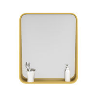 Bathroom mirror isolated on white background