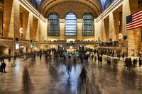 Moving people inside the Grand Central Terminal