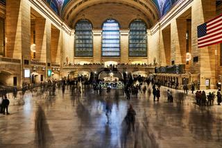 Menschen im Grand Central Terminal in New York