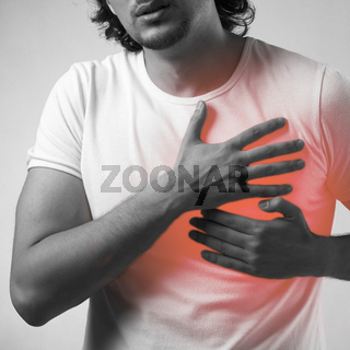 Man suffering from acute pain