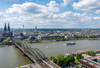 Aerial view of the cityscape of Cologne