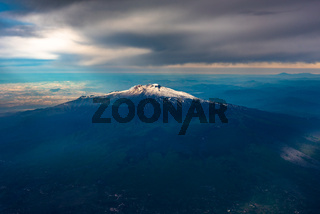 The mount Etna Volcano, Sicily island, Italy