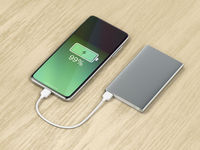 Charging the smartphone with external battery