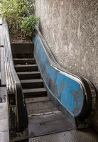 Abandoned moving stairs