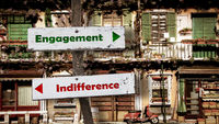 Street Sign to Engagement versus Indifference