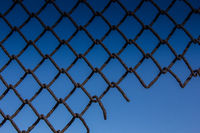 Texture mesh netting. Background fence. Transparent fence. Iron mesh chain-link
