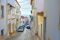 street Nazare Old Town Portugal