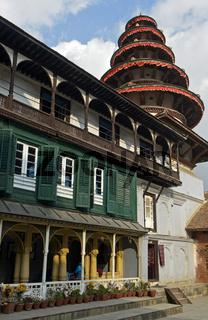 Pancha Mukhi Hanuman Hindu Tempel, Hanuman Doka, Alter Königspalast, Kathmandu, Nepal