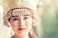 Cultural portrait of a beautiful chinese woman